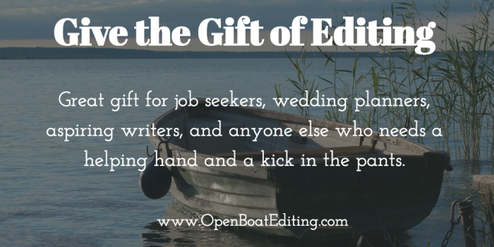 Give the Gift if Editing from Open Boat Editing
